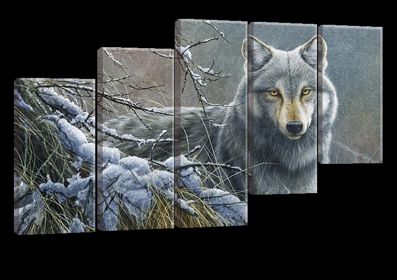 Модульная картина Серый волк
