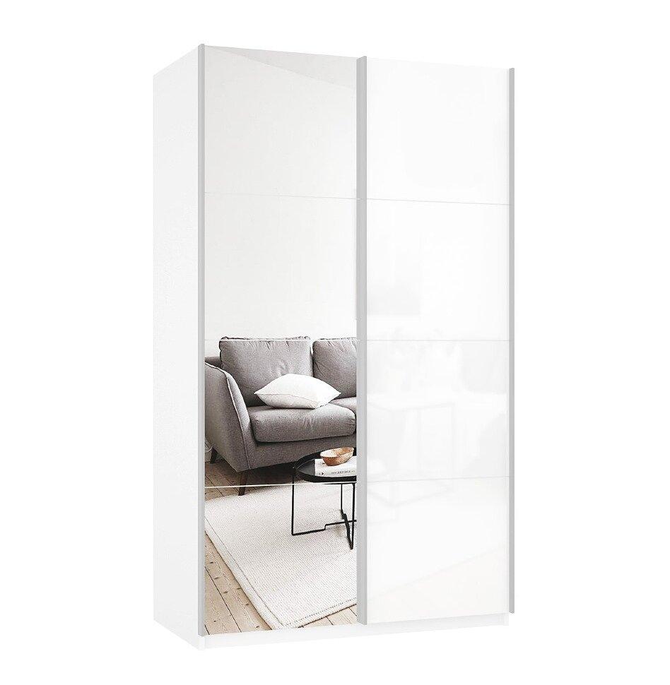 Шкаф-купе Прайм 2-дверный (стекло/зеркало)