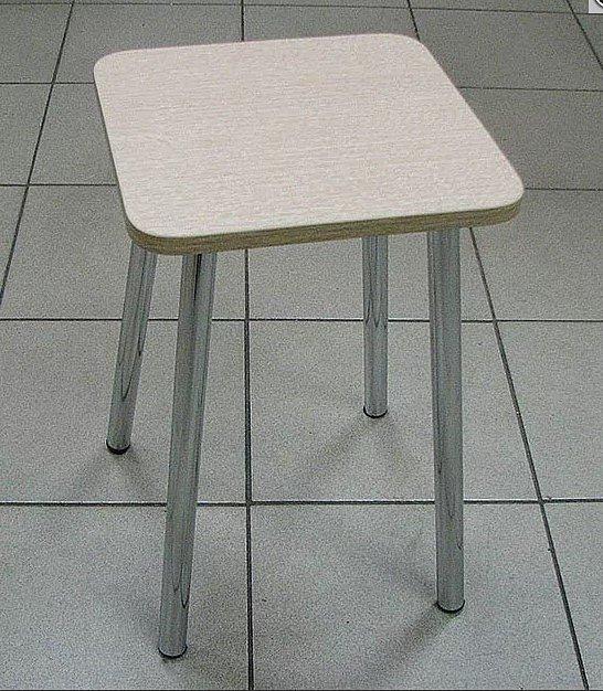 Табурет ЛДСП (ножки хром, цвет: дуб белёный) - 1600 рублей за 2 шт.