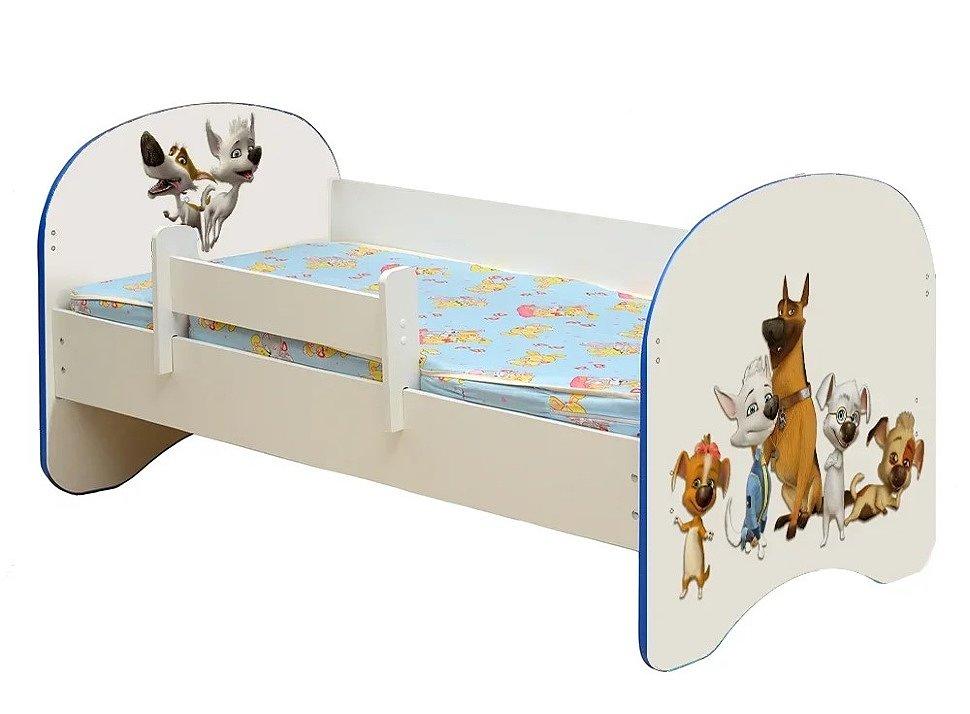 Кровать детская с фотопечатью Белка и Стрелка