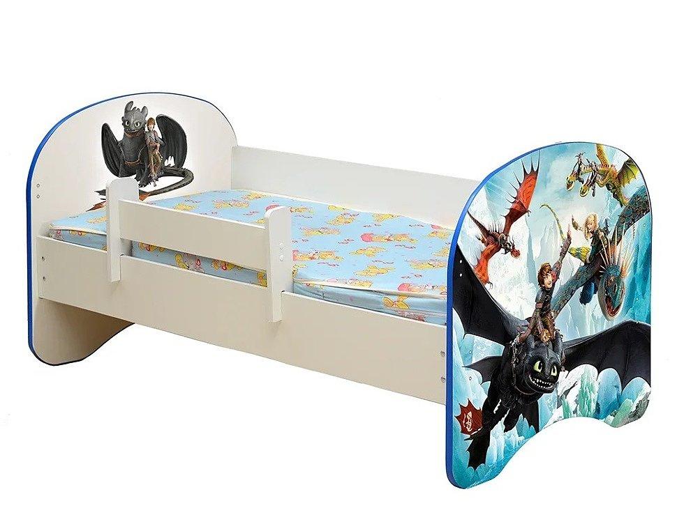 Кровать детская с фотопечатью Драконы
