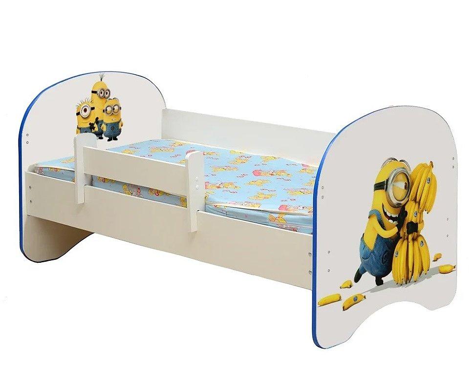 Кровать детская с фотопечатью Миньоны