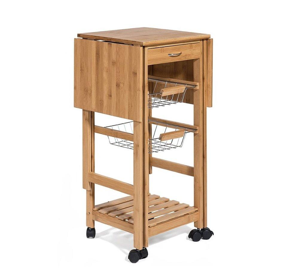 Стол кухонный передвижной разделочный Экостиль 12JW3-2135