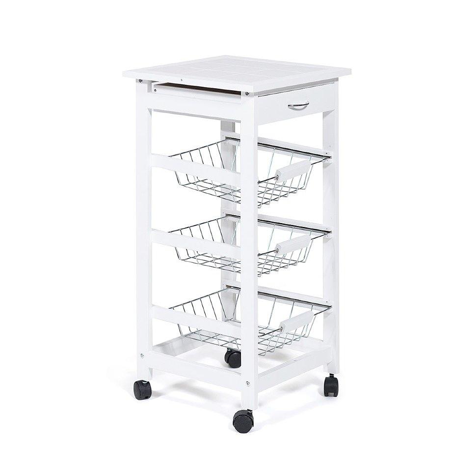 Стол кухонный передвижной разделочный Экостиль JW3-2014-1