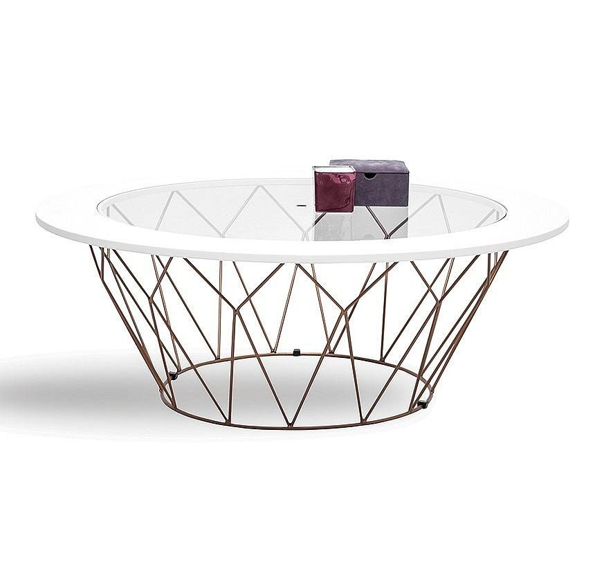 Кофейный столик Folk с металлическими ножками