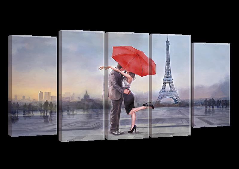 Модульная картина Париж Love