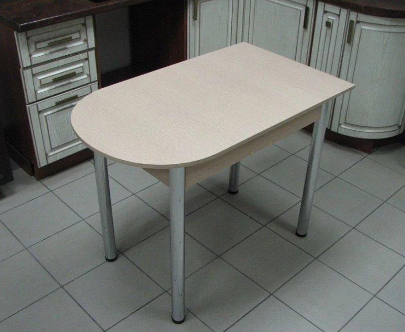 Стол раскладной Пристенный (ножки хром, цвет: дуб белёный, ясень шимо тёмный) - 3000 рублей