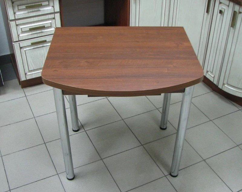 Стол раскладной с ящиком Евро (ножки хром, цвет: орех, венге, дуб белёный, ясень шимо тёмный) - 3400 рублей