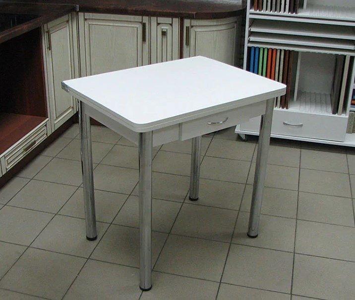 Стол раскладной Ломберный с ящиком (ножки хром, цвет: белый, венге, дуб белёный, орех) - 3200 рублей