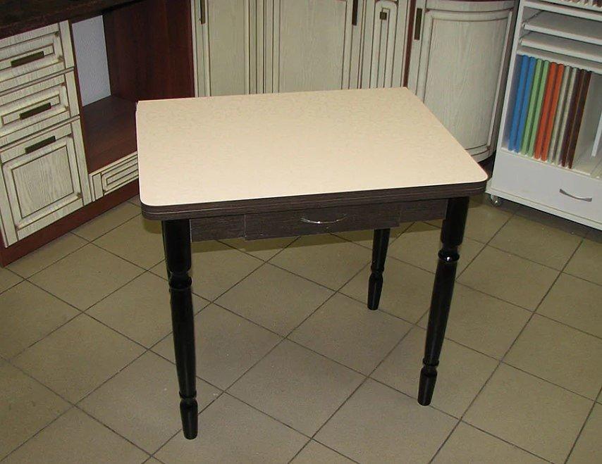 Стол раскладной Ломберный с ящиком (ножки дерево, цвет: венге, столешница пластик) - 4200 рублей