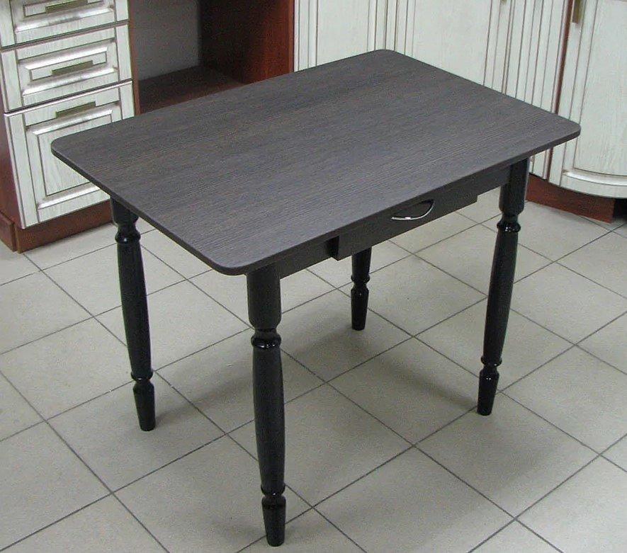 Стол Прямоугольный с ящиком (ножки дерево, цвет: белый, венге, орех) - 2500 рублей